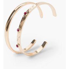 Rigid Bracelets Set ($6.51) ❤ liked on Polyvore featuring jewelry, bracelets, hinged bracelet, bangle jewelry, bracelets & bangles, hinged bangle and mango jewelry