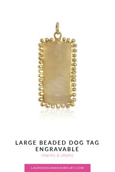 So many possibilities with our dog tags. Both the large and small dog tags can be engraved, stamped or stones can be added as well. Yellow Gold long X wide Brushed or Polished Finish LS Collection Small Dogs, Dog Tags, Jewelry Collection, It Is Finished, Chain, Stone, Gold, Little Dogs, Rocks