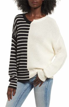 Main Image - BP. Colorblock Cotton Sweater