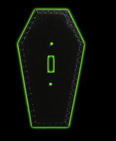 Halloweentown Store: Coffin Light Switch Plate