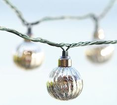 Mercury Glass Globe String Lights #potterybarn