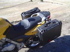Pelican Based Adventure Touring Motorcycle Luggage