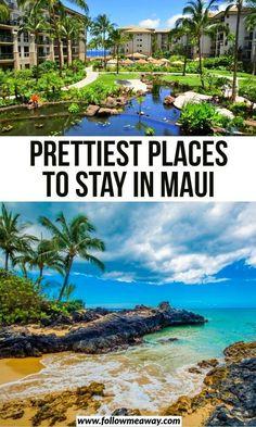 travel idea hawaii Prettiest Places To Stay In Maui Best Hotels In Maui, Best Beaches In Maui, Hawaii Hotels, Best Hawaii Resorts, Tropical Beaches, Hawaii Maui, Hawaii Honeymoon, Oahu, Maui Vacation Rentals