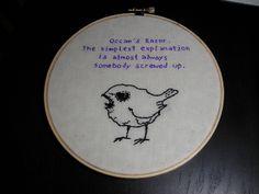 BadBird / House embroidery | Flickr - Photo Sharing!