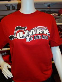Ozark tiger pride band tee
