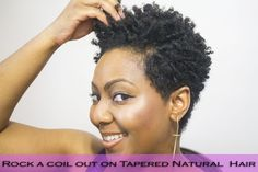 How to Rock a Tapered Cut and Style it into a Fierce Coil Out on Natural Hair! |www.BeingMelody.com| @beingmelody