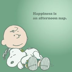Happiness is an afternoon nap.