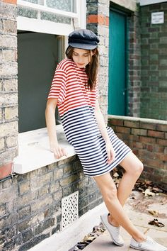 Stripes on stripes.