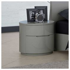 Orren Ellis This nightstand captures the essence of a minimalist, yet with touches of elegance not yet seen until now. Wonderfully smooth circle nightstand truly lends itself to this name. Affordable Furniture, Cheap Furniture, Discount Furniture, Furniture Projects, Metal Furniture, Furniture Makers, White Furniture, Luxury Furniture, Industrial Design Furniture