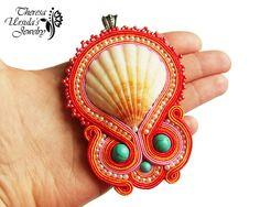 OMG!!!!  CORAL REEF beautiful soutache seashell by TheresaUrsulasArt, zł200.00