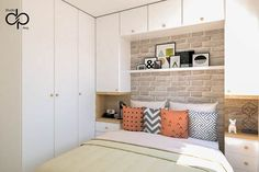 Bedroom Design On A Budget, Small House Interior Design, Bedroom False Ceiling Design, Small Bedroom Designs, Bedroom Furniture Design, Modern Bedroom Design, Home Furniture, Bedroom Storage For Small Rooms, Bedroom Built Ins
