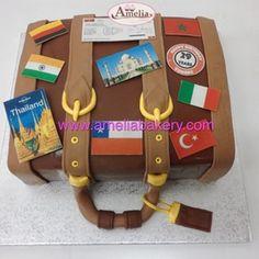 Tarta maleta / Tarta viajes / Pastel maleta viaje