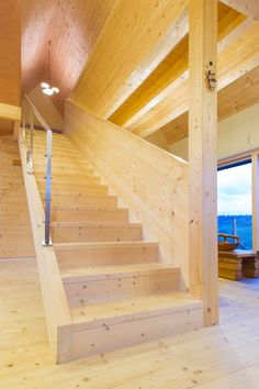 passivhaus   stairs   wood   interier   natural   ecococon   liptovska kokava   slovakia