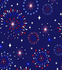 JoAnn - Stars N Stripes Fabric Bold Fireworks