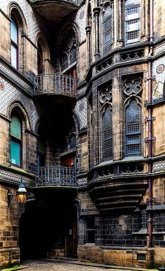 Gothic exterior of the Manchester City Hall, Manchester, England, United Kingdom, photograph by Jon Reid. Gothic Architecture, Beautiful Architecture, Beautiful Buildings, Beautiful Places, Architecture Portfolio, Beautiful Pictures, Gothic Buildings, Organic Architecture, Ancient Architecture