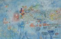 Rêverie étrange, Aquarelle, du peintre, SHOICHI, HASEGAWA, Signature en bas à droite