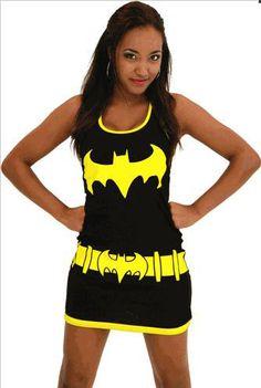 Vestido de tirantes Dc Comics. Batgirl