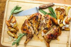 Chicken with Maple and Mustard, Apples, Potatoes and Onions.