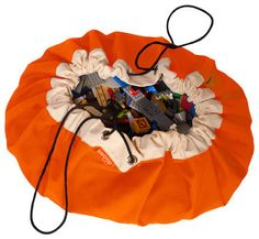 Swoop Bag, Orange Crush, Large contemporary toy storage