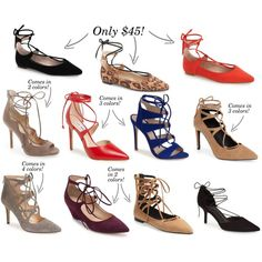 Lace up shoes! Click the pic to shop them all!!!