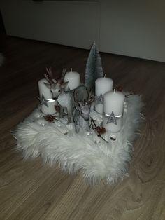 Christmas Mood, Christmas Crafts, Merry Christmas, Xmas, Christmas Table Centerpieces, Christmas Decorations, Candles, Handmade, Xmas Decorations