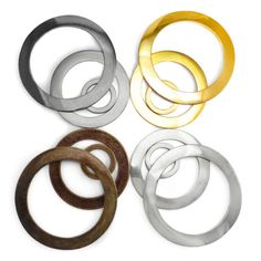 Large-solid-cast-wide-O-rings-metal-bags-collars-craft-30-66-83-mm