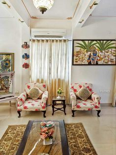 Living room bhartiya seating arrangement living room for Houzify home design ideas