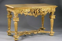 Console in carved and gilded wood. 18th century Italy Piedmont.