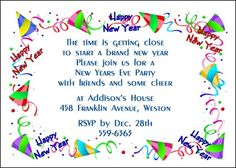 our new years eve party invitation cards are guaranteed to please