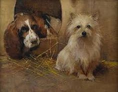 A Springer Spaniel and a Terrier, by Samuel Fulton (1855-1941)