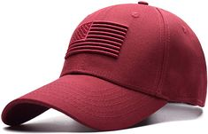 detailed pictures 732ce 80d8b Pajamasea Unisex Cotton Outdoor Baseball Cap Embroidery Snapback Sports Hats  for Men Women Caps Wine Red Adjustable  Amazon.ca  Clothing   Accessories