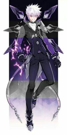 Add (LP) Anime Fantasy, Dark Fantasy Art, Anime Oc, Anime Demon, Anime Elsword, Add Elsword, Anime People, Anime Guys, Fantasy Characters