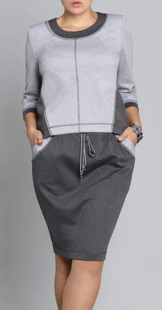 Grey Fashion, Sport Fashion, Autumn Fashion, Womens Fashion, Fashion Design, Cute Dresses, Casual Dresses, Casual Outfits, Fashion Dresses
