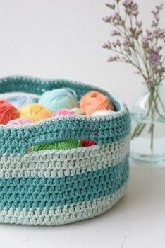 Gratis Haakpatroon Mand Mandje Haken Pinterest Free Crochet