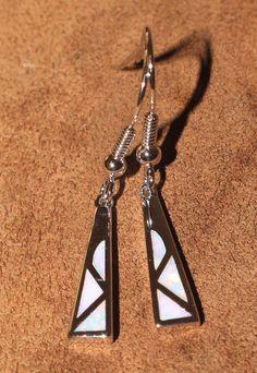 white fire opal earrings Gemstone silver jewelry modern drop dangle design ME3 #DropDangle