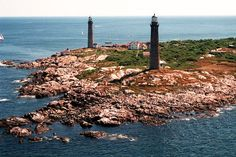 Thacher Island Twin Lights: Identical 124 food granite towers, located off of the coast of Rockport, Massachusetts. They are the only active twin lighthouses in the United States...