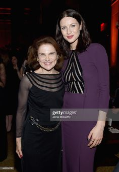 Tovah Feldshuh and Caitriona Balfe attend the 'Outlander' Mid-Season New York Premiere after party at The Oak Room on April 1, 2015 in New York City.