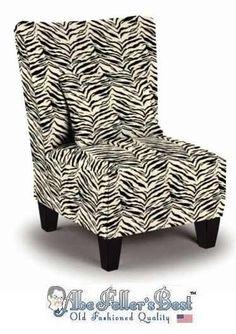 Zebra Print Accent Chair