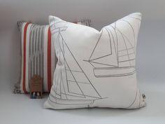 Boat Fabric Sailing Boat Cushion Boat Cover Stripe Cushions, Coastal Cushions, Sailing Boat Cover Beach Cushion Sofa Cushions Nautical Cushions, Striped Cushions, Printed Cushions, Blue Pillows, Cushions On Sofa, Throw Pillows, Nautical Theme Decor, Seaside Decor, Cushion Pads