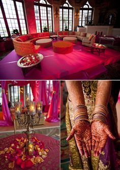Bollywood Glam. Orange and Magenta.