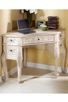 Corner desk idea for spare bedroom/ office combo