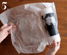 How To Transfer Photos Onto Candles Easy Video Tutorial Learn how to transfer Photos onto candles quickly and easily. Our post includes an easy video tutorial that will show you how. Homemade Candles, Diy Candles, Pillar Candles, Homemade Gifts, Photo Bougie, Canvas Photo Transfer, Diy Para A Casa, Diy Foto, Candle Craft