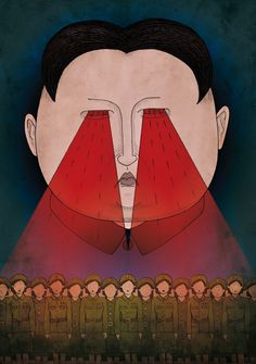 """""""Si Senyor"""", ilustración basada en el tema homónimo de Ovidi Montllor para La Fira Ferotge, exposición de la Apiv perteneciente a la 50 Feria del Libro de Valencia - Laura Rico"""