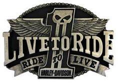 Harley-Davidson® Men's Live to Ride Uno Belt Buckle