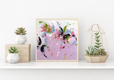 Buy the original art online. Modern abstract painting, acrylic colors on canvas board.This painting is handmade, original artwork. Colorful Abstract Art, Colorful Wall Art, Abstract Wall Art, Painting Abstract, Original Art, Original Paintings, Small Paintings, Art Paintings, Violet