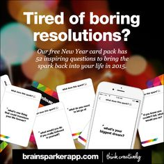 Our free creativity app has a New Year card pack that can help bring some sparkle into your 2015.