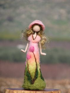 Waldorf inspired needle felted roses lady III. by Made4uByMagic ♡