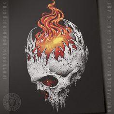 Evil Skull Tattoo, Grim Reaper Tattoo, Horror Drawing, Horror Art, Dark Gothic, Dark Souls 4, Skull Fire, Fire Drawing, Fire Tattoo