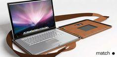 Slim Leather Tech Bags : Match Point Laptop Case