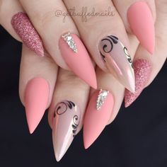 @Regranned from @getbuffednails -  Salmon Pink  Birthday Nails for my Bestie! Swipe for more pics  Using my new @gfa_australia Crayon colours  CN36/NU14  @glitter_heaven_australia Glitter ✨ @uglyducklingnailsaustralia @uglyducklingnails Acrylic  @embellishedbyjaydean Bling  Hope everyone had a happy and safe Christmas!! ❤️ xx Almost NY!! ♀️ - #regrann